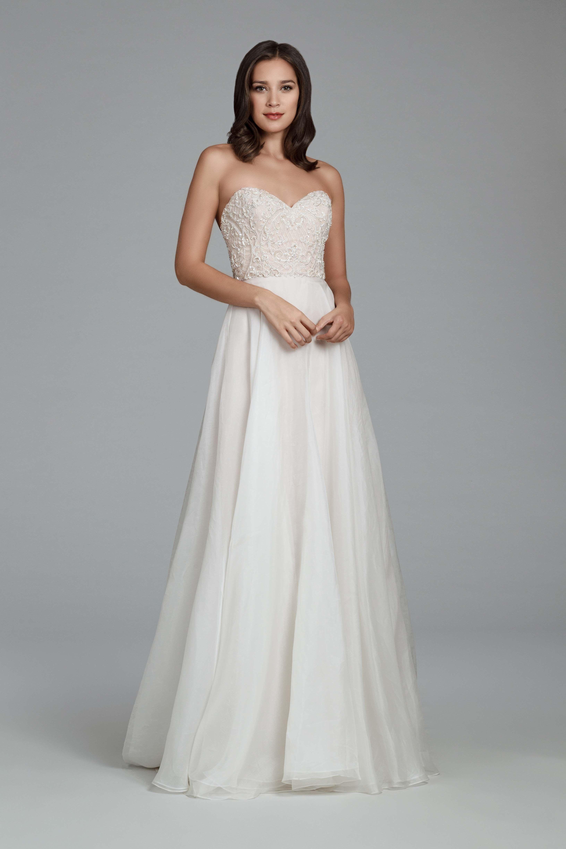 Tara keely bridal gown style designed by lazaro ivory