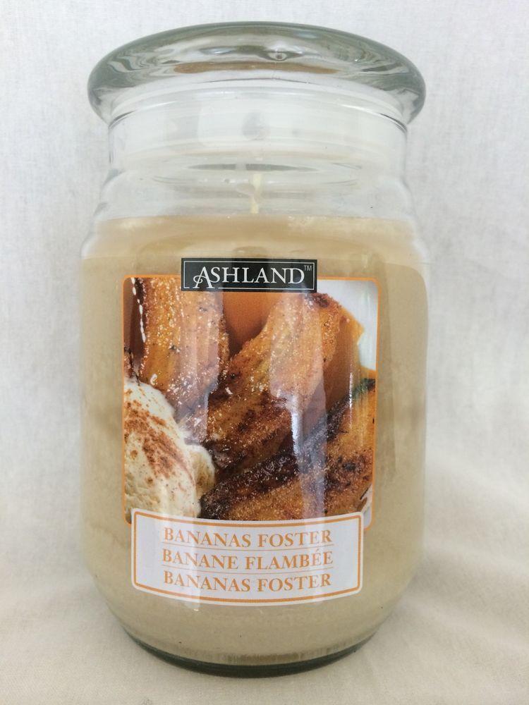 NWT Ashland Jar Candles Bananas Foster Cinnamon Scented ...