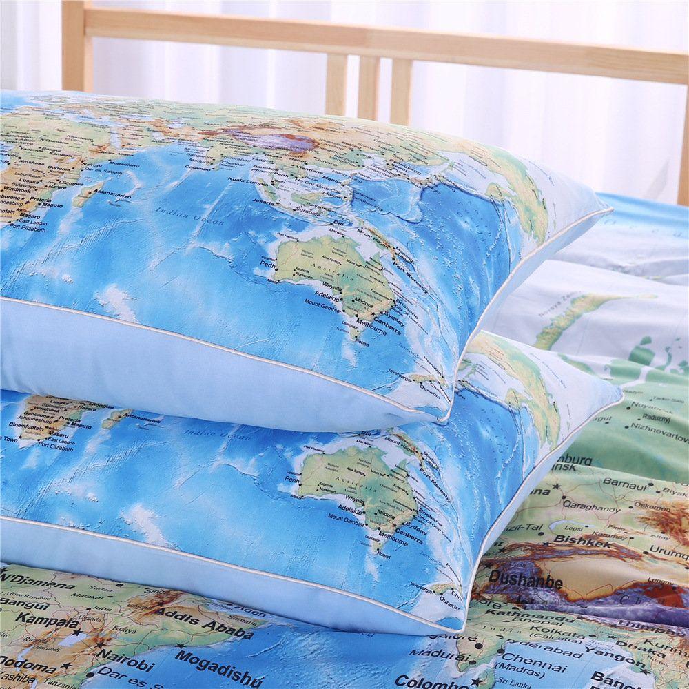 Bedding outlet world map bedding set vivid printed blue bed duvet bedding outlet world map bedding set vivid printed blue bed duvet cover soft microfiber gumiabroncs Choice Image