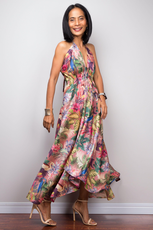 Floral Halter Dress Sleeveless Boho Party Dress Open Back Etsy In 2021 Boho Party Dresses Flower Maxi Dress Floral Halter Dress [ 3000 x 2000 Pixel ]
