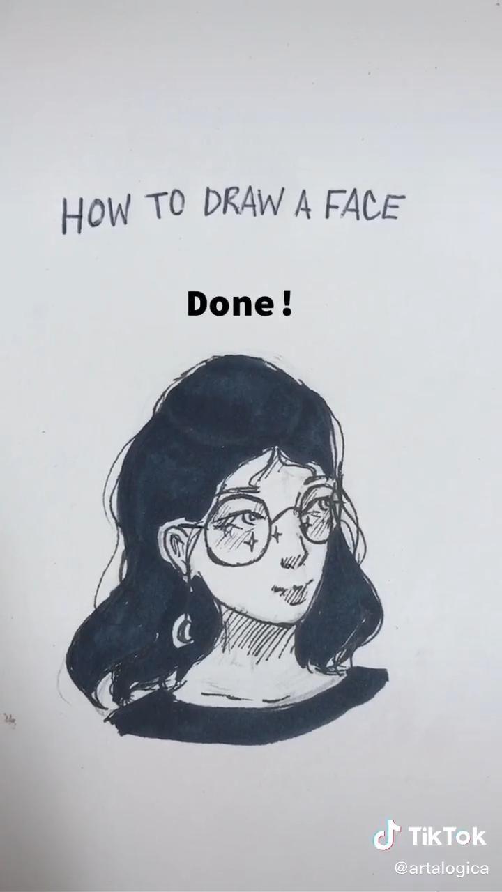 How To Draw A Face Tutorial Video Art Tutorials Drawings Manga Art