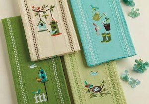 Early Bird Embroidered Kitchen Towels, Set of 4