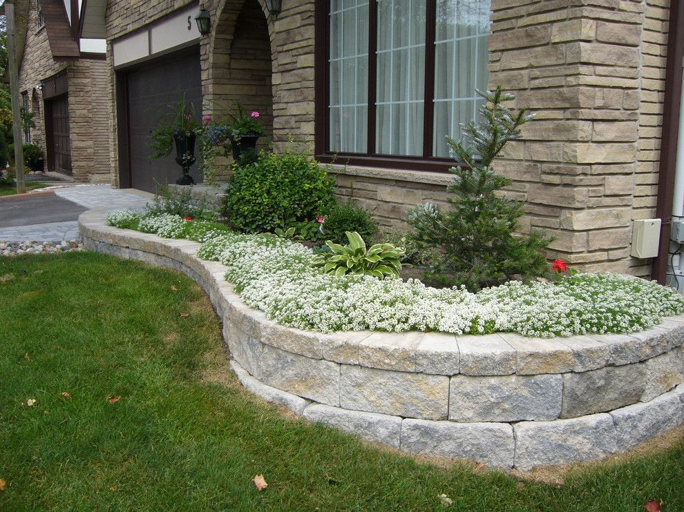 Contemporary Landscape With Block Retaining Wall Design By Allan Block  Retaining Wall And Patio Wall Systems   Home Landscaping