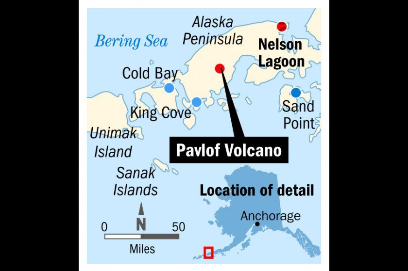 'Lava show': Pavlof eruption covering village in ash, putting pilots on notice | Alaska Dispatch News
