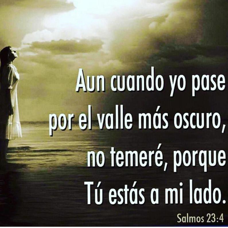 Preferência Salmos 23 4 Aunque ande en valle de sombra de muerte, No temeré  FZ83