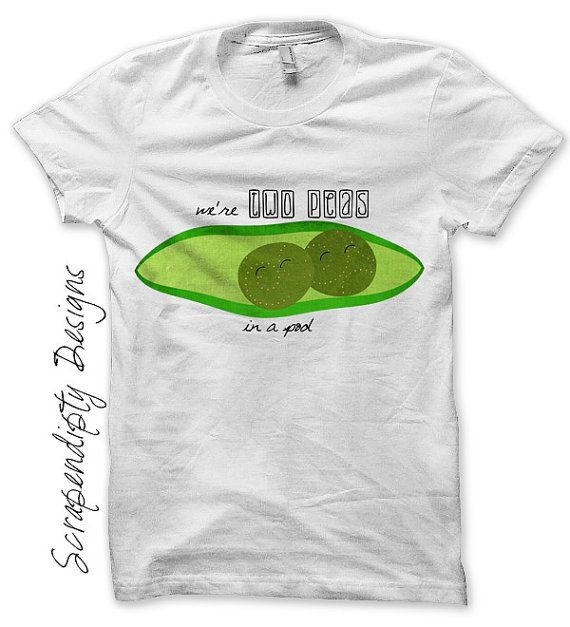 9554a4f8f2aa1 Best Friends Iron on Shirt PDF - Two Peas in a Pod Shirt by  ScrapendipityDesigns, $2.50
