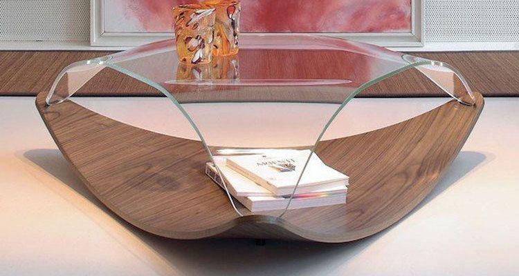 Tavolini Da Salotto › Tavolino Basso Salotto Design Unico In Vetro E Legno › Bellissimo Tavolino Salotto Design