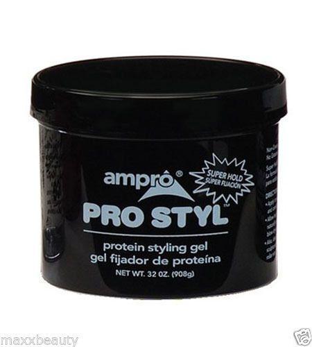 Ampro Pro Styl Protein Styling Gel 32 Oz Super Hold Black Jar Protein Styling Gel Styling Gel Gel