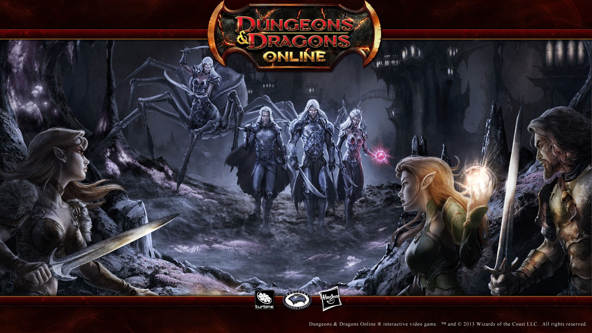 Dungeons Dragons Online 16 9 Wallpaper Drow Approach