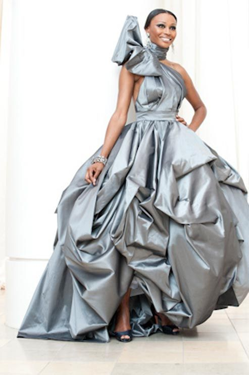 Cynthia Bailey\'s remarkable platinum gown for the Real Housewives of ...