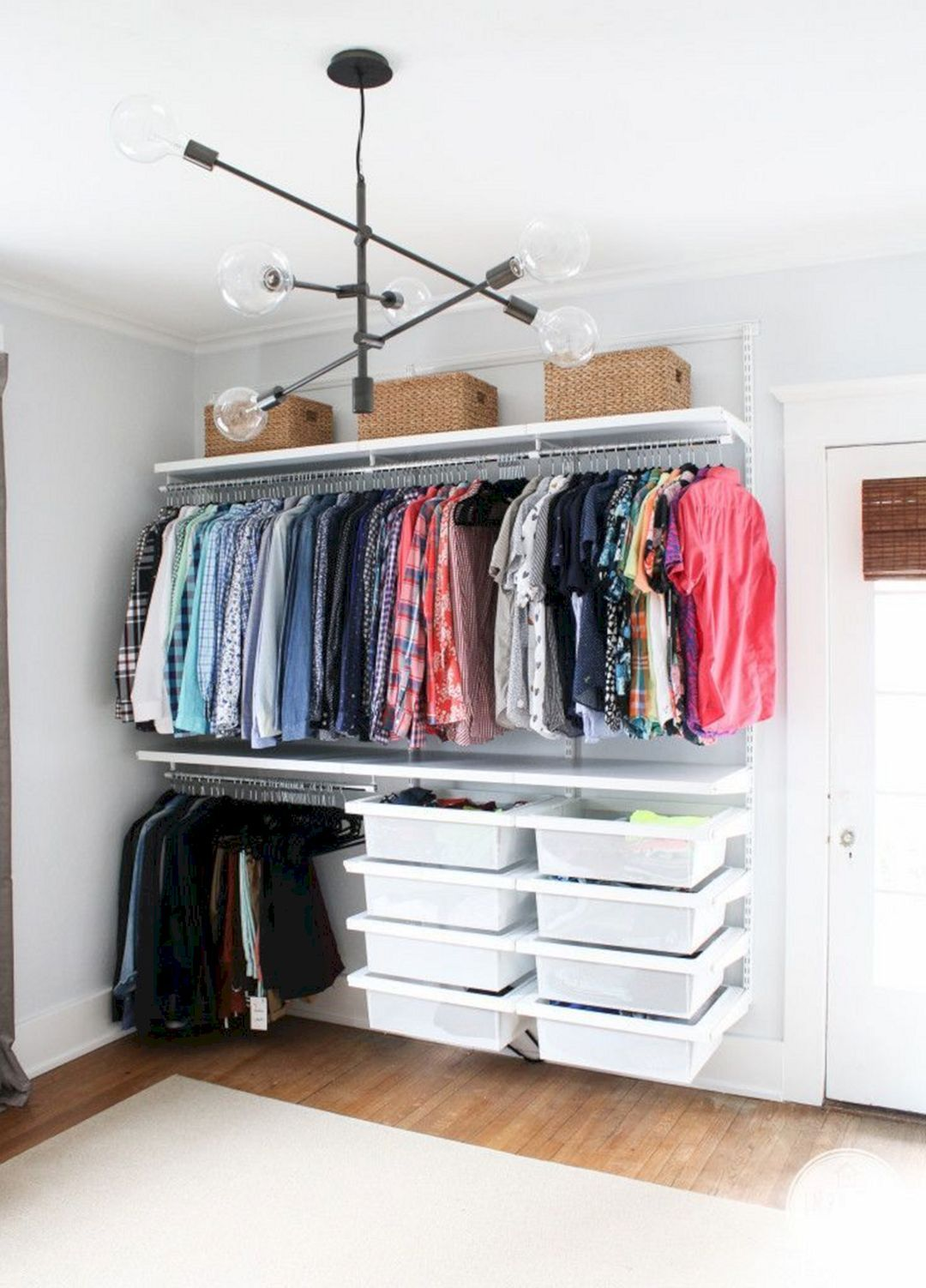 Breathtaking 28 DIY Creative Clothes Storage Ideas For Home that