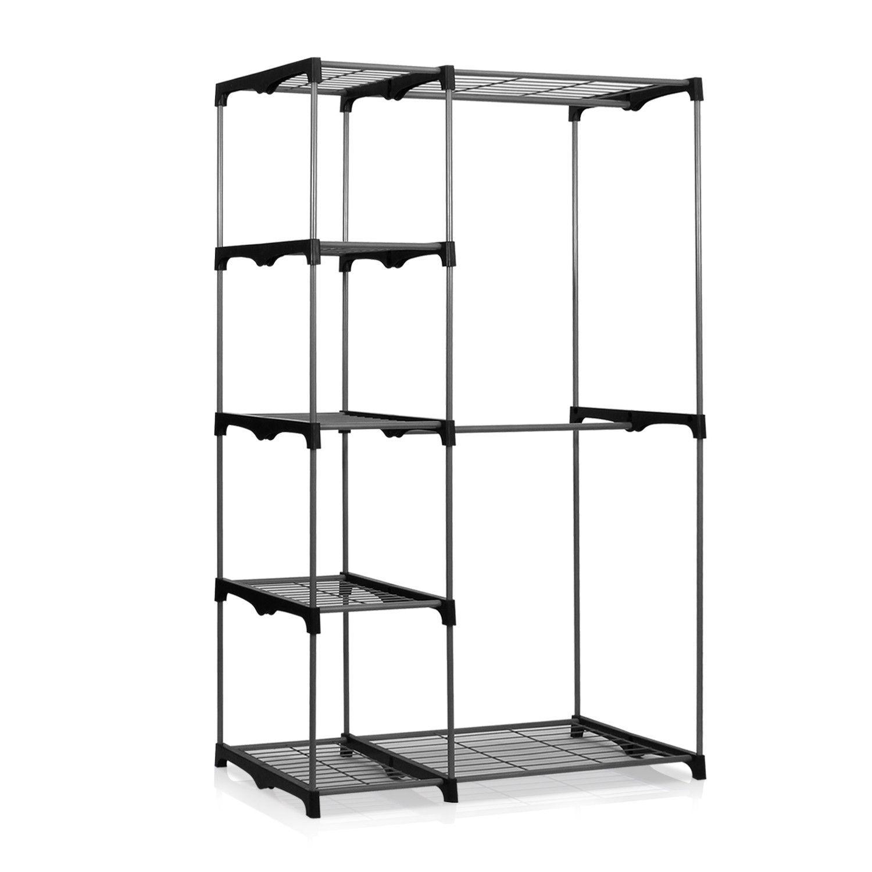 Furinno wayar double rod freestanding closet grey ws house