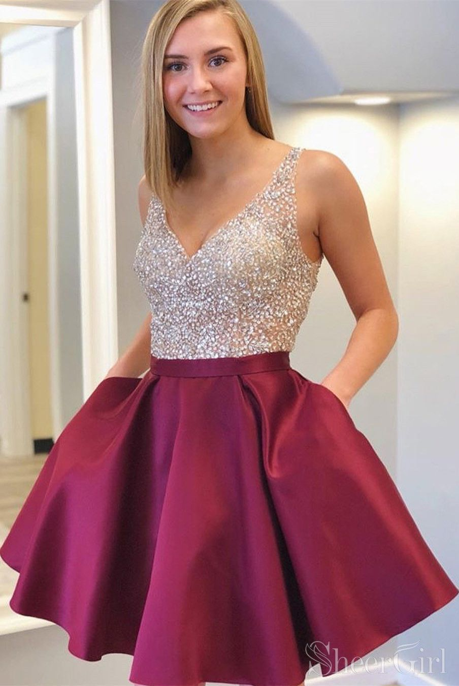 d55e66bf842 Short Prom Dresses With Pockets