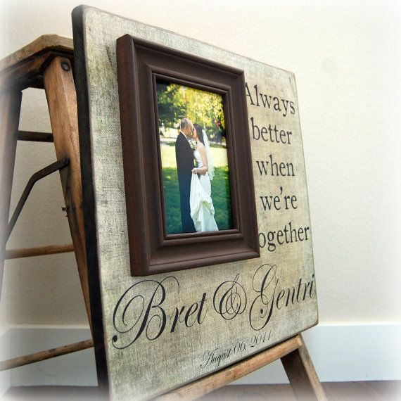 Wedding Registry Ideas For Couples Living Together: Wedding Story Photo Frame - Personalized