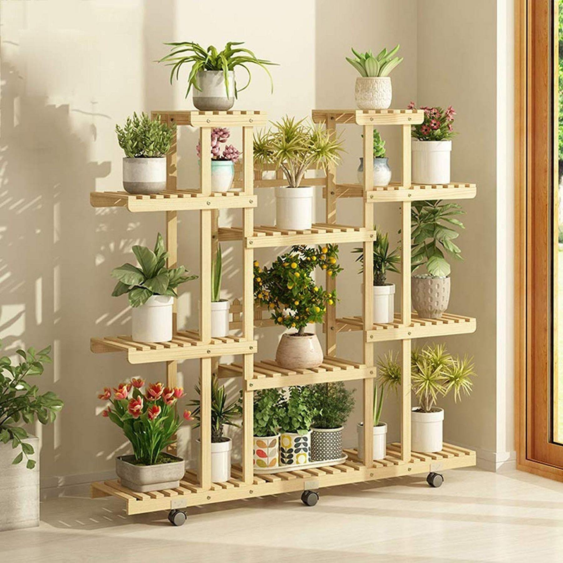 12 Interesting Flower Shelf Design Ideas As Your Home Decoration Flowershelfdecoration Flo Plant Stands Outdoor Plant Decor Indoor House Plants Decor