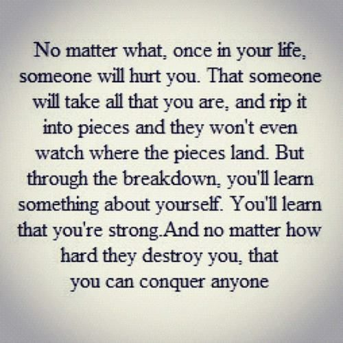 Sad but true...STRONG!
