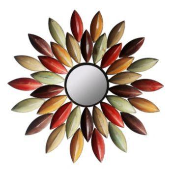 Autumn Leaf Metal Wall Mirror, Multicolor | Metal walls, Walls and ...