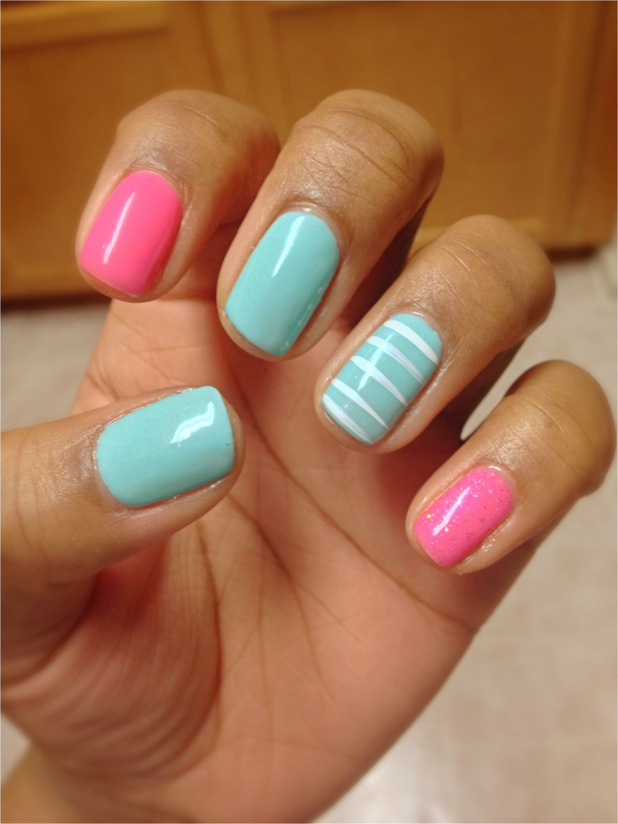 Spring Nails! Perfect Match gel polish colors.