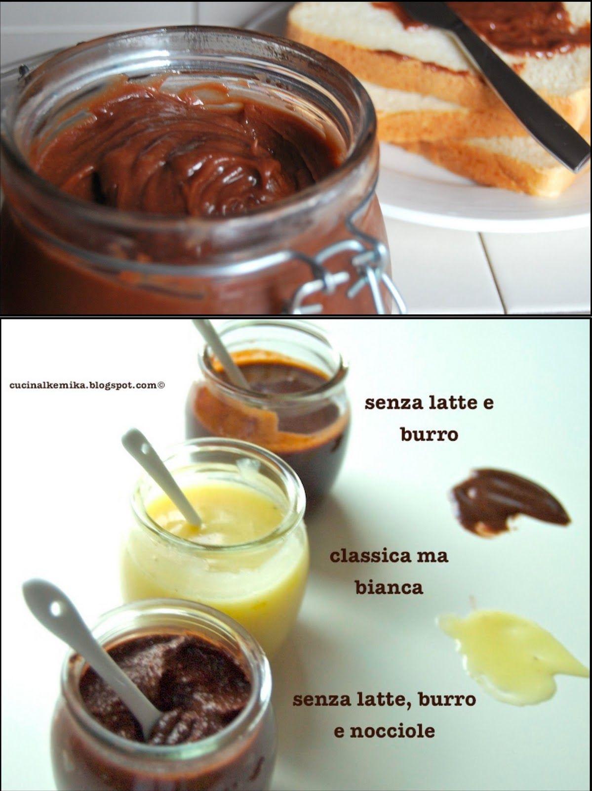 CREME SPALMABILI (Nutella e sue varianti) Cibo, Ricette