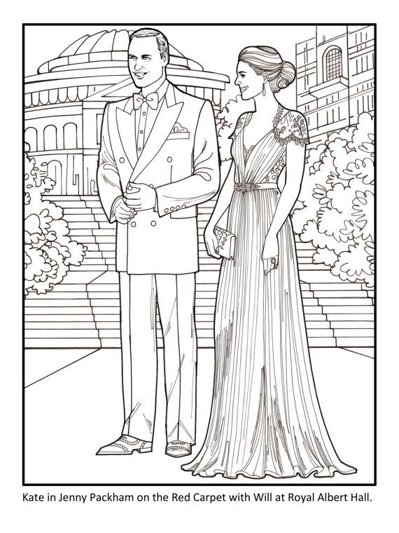 Kate The Duchess Of Cambridge Royal Fashions Coloring Book Fashion Coloring Book People Coloring Pages Coloring Books