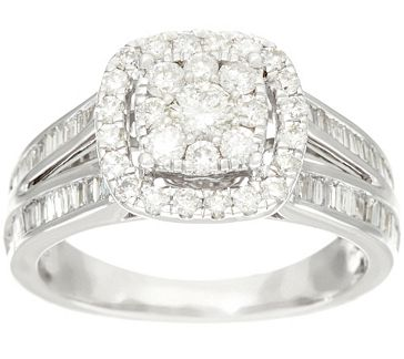 30e1c3a14f93a Cluster Halo Design Diamond Ring, 14K 1.00 cttw by Affinity ...