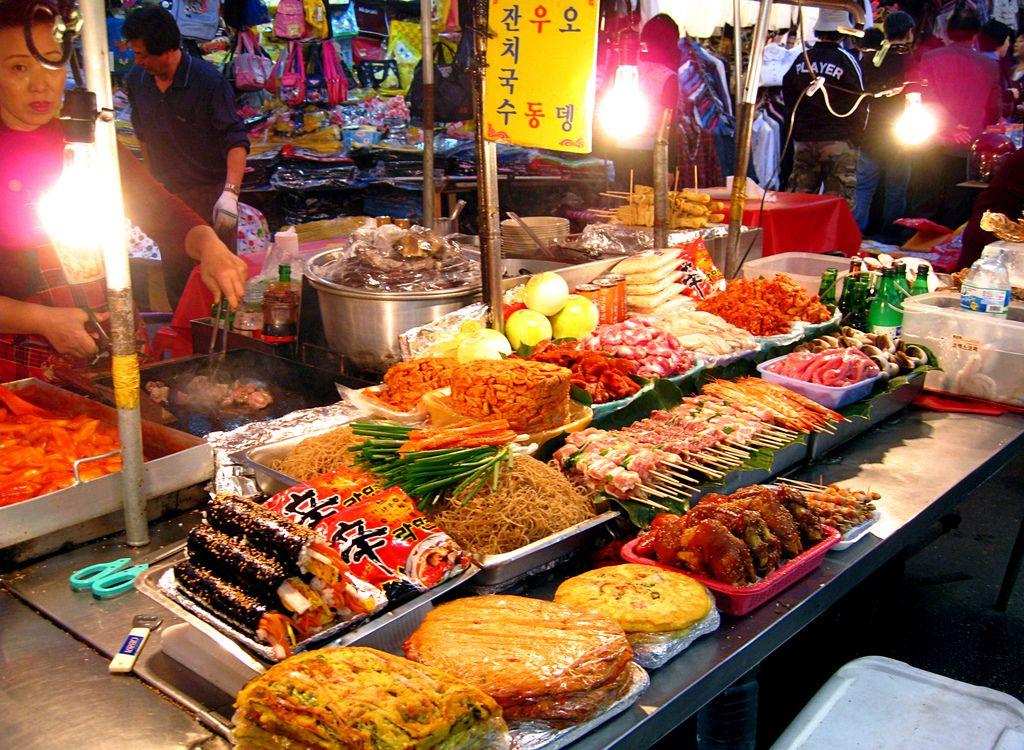 Street Food in Korea Street food, World street food, Food
