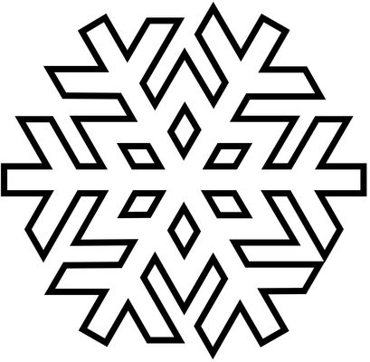 Color In Graphic Snowflake Patterns