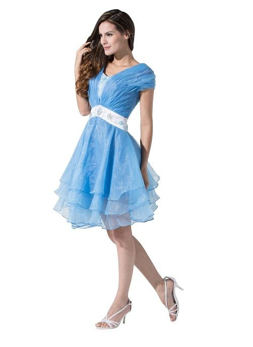 Trendy Plus Size Junior Prom Party Homecoming Dresses With Sleeves