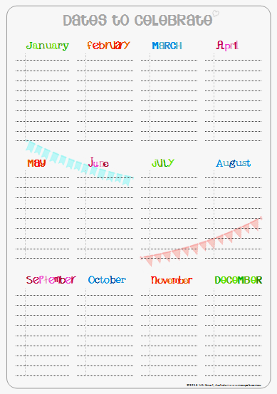 picture regarding Free Printable Perpetual Birthday Calendar Template known as Free of charge printable perpetual birthday calendar versus messpots