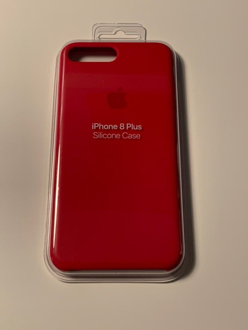 Apple iPhone 8 Plus Silicone Case - Red - MQH12ZM/A (Used ...