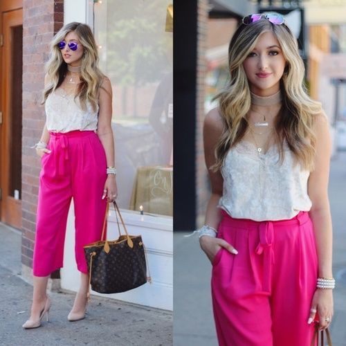 66d8ebead92 In love with these pink culottes this summer! Shop this look and awesome