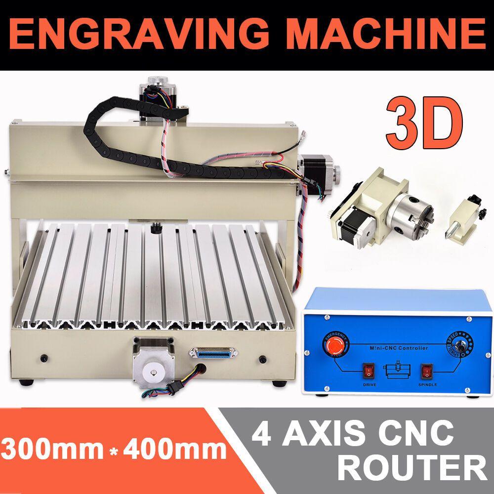 4 Achse Cnc Router Graviermaschine 3040 FrÃsmaschine Gravure Maschine 3d 400w De 4 Axis Cnc Cnc Cnc Router