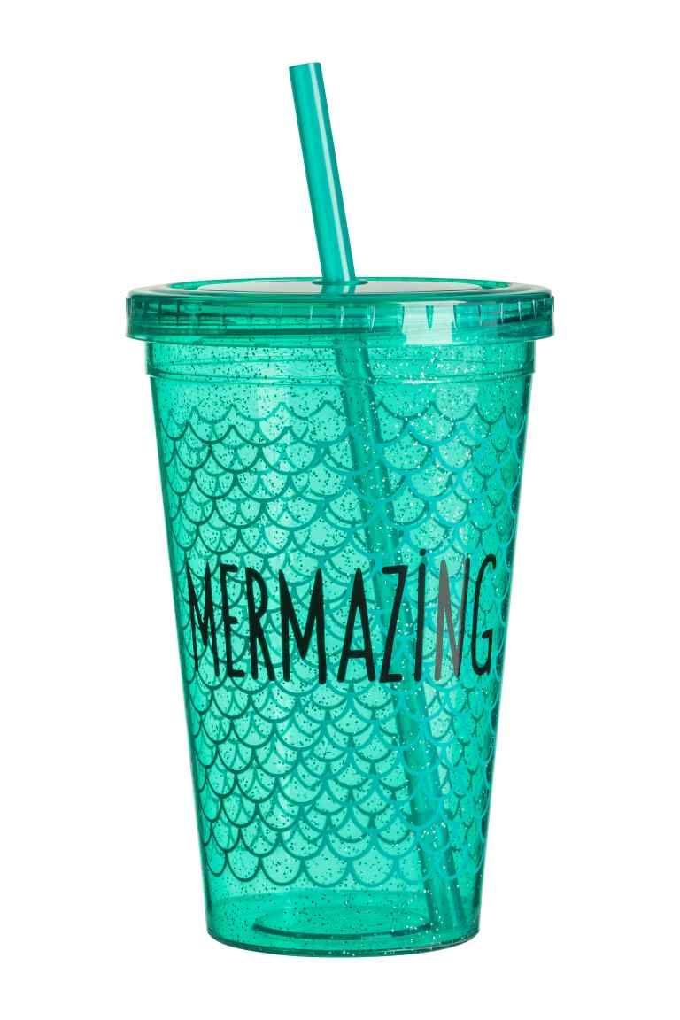 Пластиковый стакан с трубочкой | Чашка, Стакан, Принты