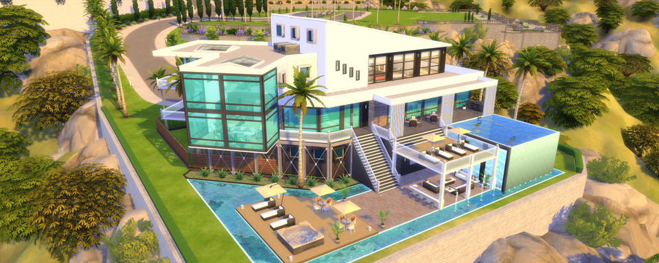 Finally Finished My First Get Famous Build Hope You Like It Thesims Sims 4 Houses Sims 4 House Design Sims House Plans