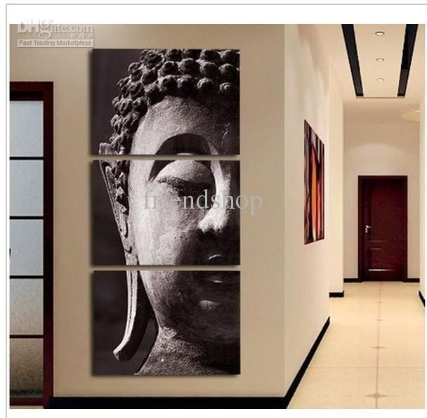 3 panel wall art religion buddha oil painting on canvasno frame - Wholesale Arts And Frames
