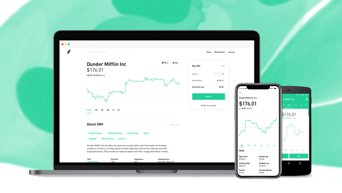 Robinhood stock trading comes to web with finance news for