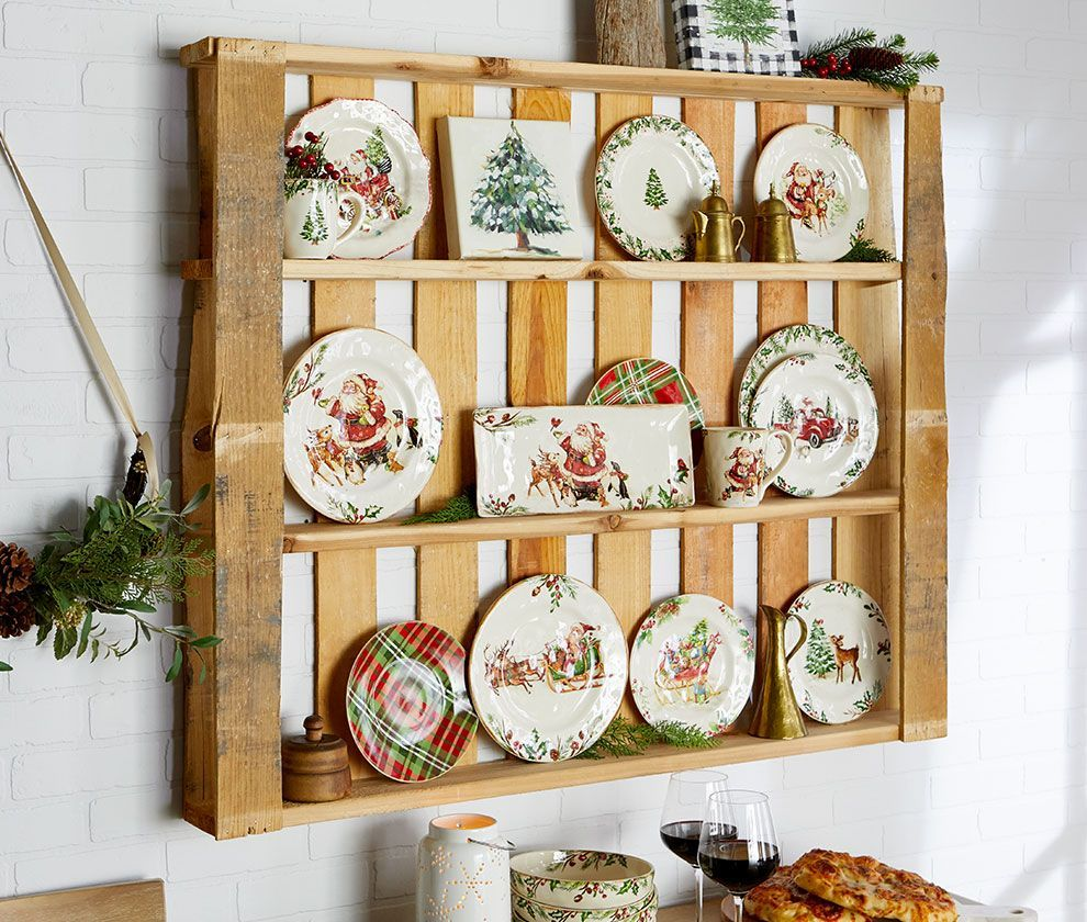 Bring It Home For The Holidays Pier 1 Imports Plates On Wall Christmas Table Settings Holiday