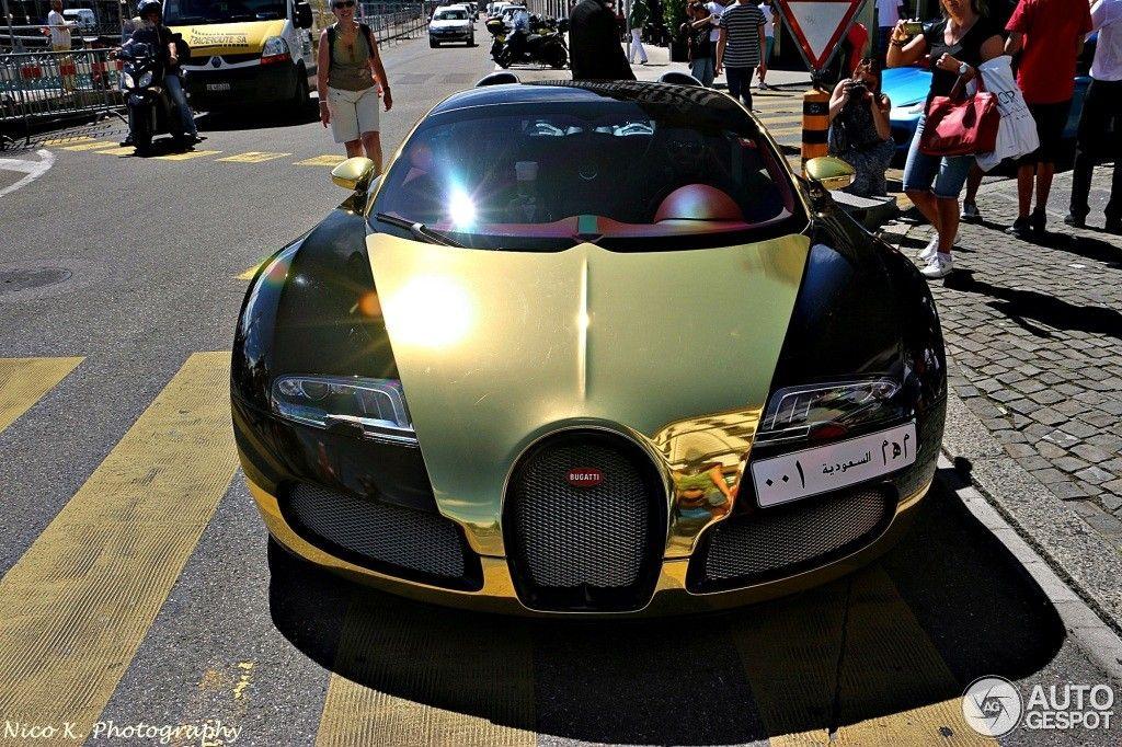 Golden Bugatti Veyron Spotted In Geneva Motorward Bugatti