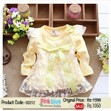 Infant Girl S Short Special Occasion Dress With Satin Bow Girls Birthday Party Dress Yellow Party Dresses Baby Girl Frocks