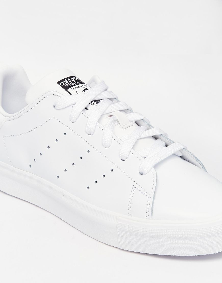Image 4 of adidas Originals Stan Smith All Over White Trainers
