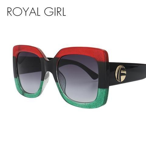 1c3788d481 Oversized Sunglasses Women Brand Designer Square Acetate Frame Shades