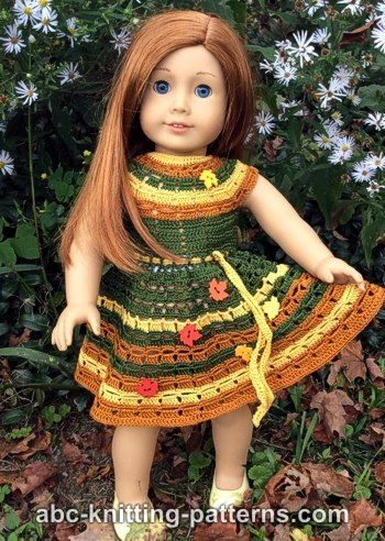 American Girl Doll Autumn Lace Dress | Crochet | Pinterest | Puppen