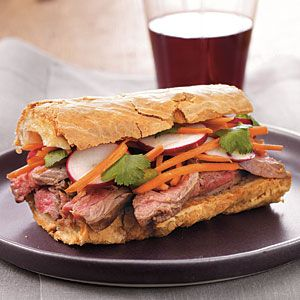 Banh Mi-Style Roast Beef Sandwiches - Gluten-Free Sandwiches - Cooking Light Mobile