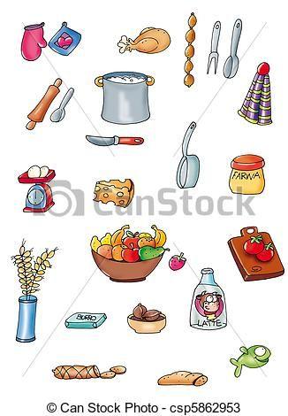 Utensilios de cocina dibujos buscar con google dulces for Utensilios y materiales de una cocina de restaurante