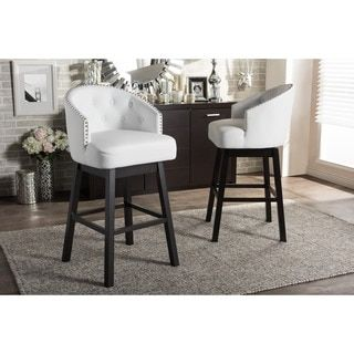 ABBYSON LIVING Versailles Ivory Tufted Barstool | Overstock.com Shopping    The Best Deals On Bar Stools