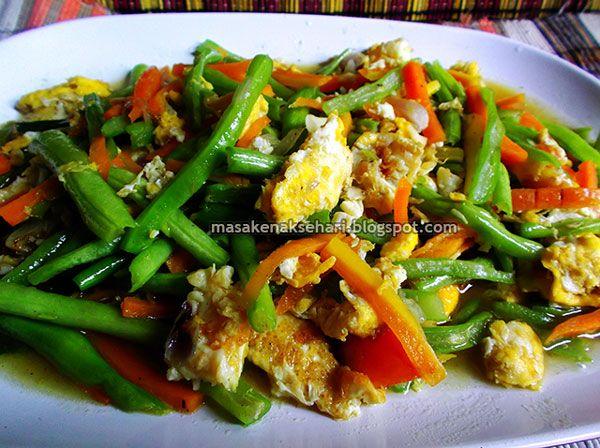 Resep Tumis Buncis Wortel Telur Resep Masakan Resep Masakan Indonesia Masakan