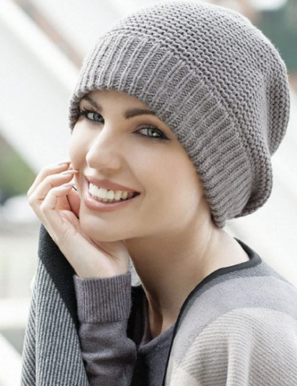 Ari Winter Hats Knitted Chemo Headwear for Women with Cancer Wool Hats for Cancer Patients Turban for Alopecia Hair Loss Chemo Cap