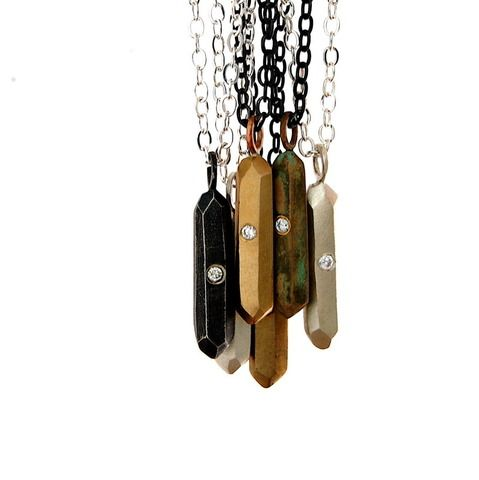 Mini Crystal Bullet Necklace With Images Bullet Necklace