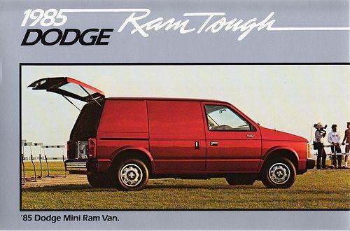1985 Dodge Mini Ram Van Van Ram Van Dodge