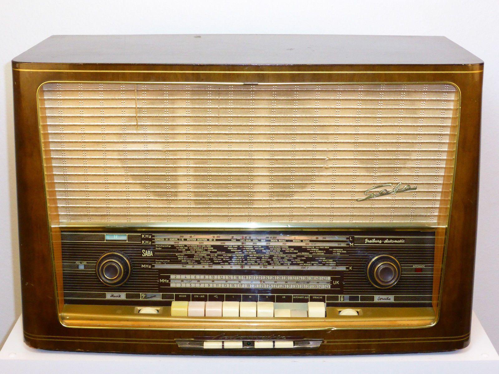 Rohrenradio Saba Freiburg Automatik 9 Tube Radio Ebay Antique Radio Radio Design Old Radios